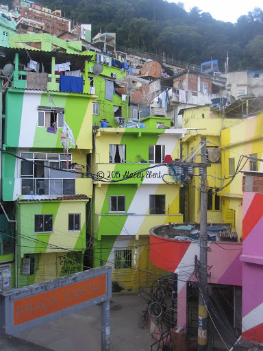 The Favelas in Rio show a very different part of life.