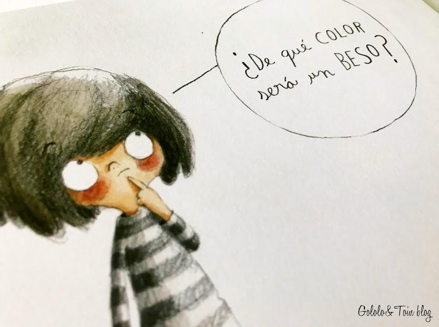 Álbum ilustrado De qué color es un beso de editorial Algar