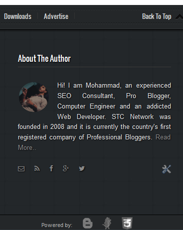 responsive Blogger Footer