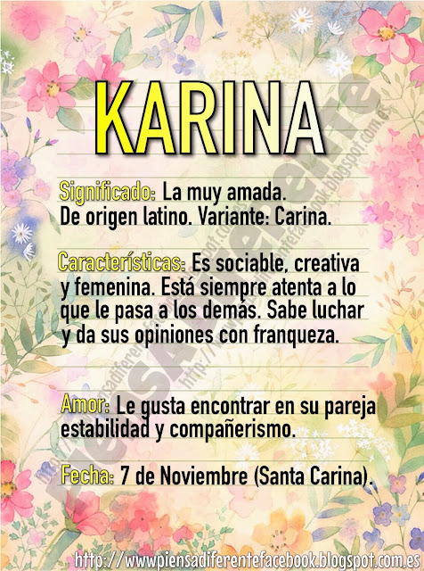 Piensa Diferente: Significado de karina