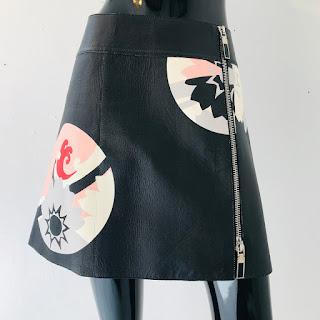 Alexander McQueen NEW Leather Skirt