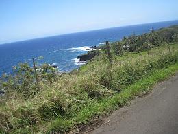 Maui coastline on the way to Hana.