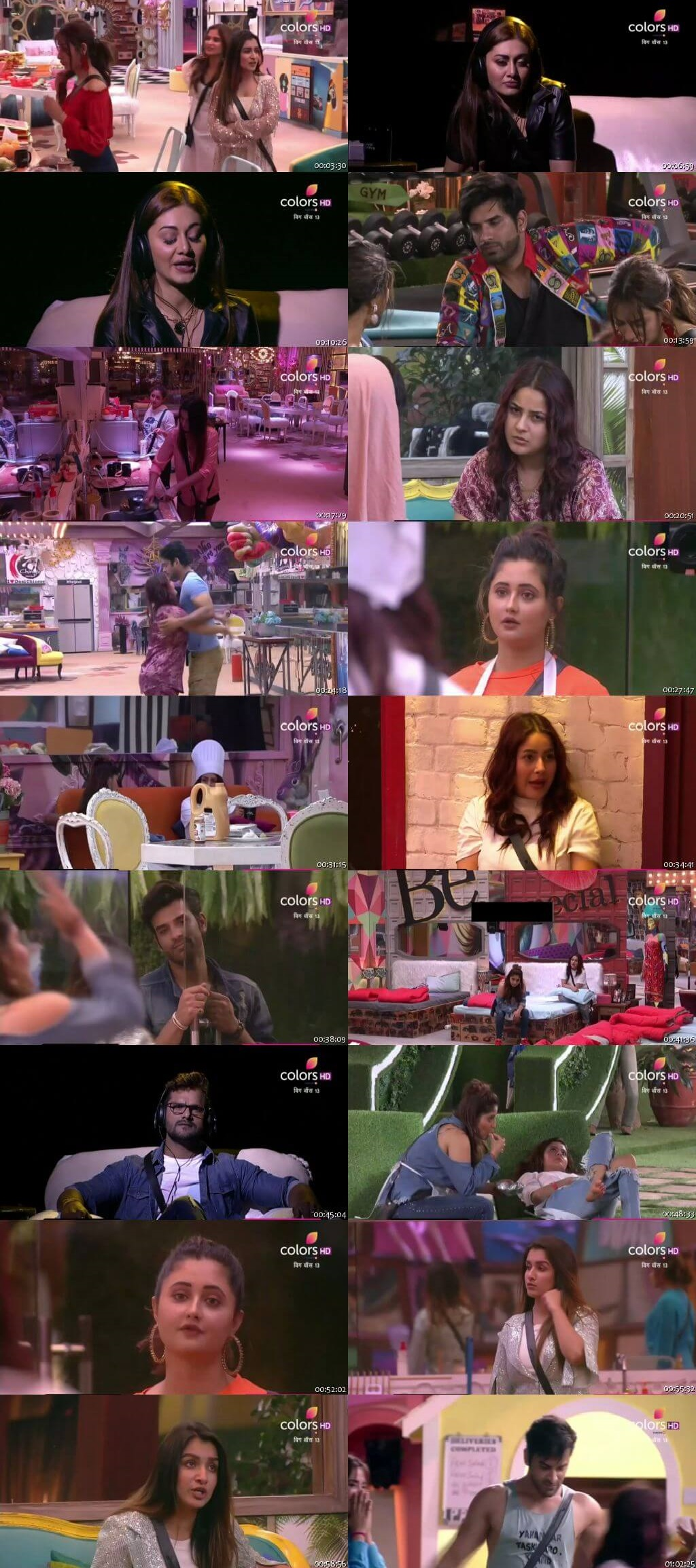 Screenshots Of Hindi Show Bigg Boss 13 31st October 2019 Episode 31 300MB 480P HD
