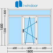 PVC and aluminium window and door design-iwindoor