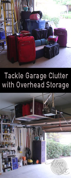Tackle Garage Clutter With Overhead Storage