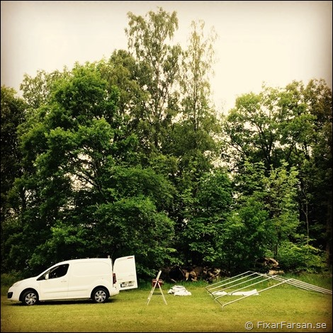 Splitter nya Test: 5x8m Harstad Partytält från Jysk | FixarFarsan WJ-57