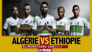 CAN-2017 , éliminatoires (3e journée) : Algérie 7 – 1 Ethiopie (Terminé)