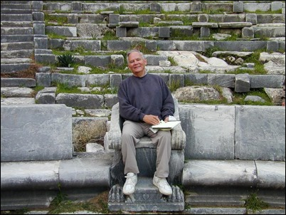 Dr Rigsby in Priene theater seat, tb010401806