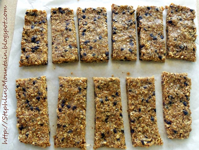 Easy, No-Bake Energy Bars Cut