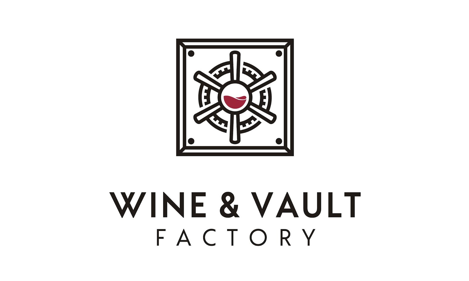 Wine Vault Factory Logo Design A Free Download Vector CDR, AI, EPS and PNG Formats
