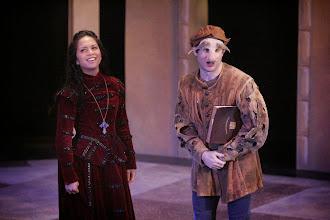 Photo: Launcelot and Jessica,Merchant of Venice, Shakespeare Center Los Angeles. Photo, Michael Lamont.