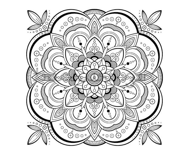 Printable Adult Coloring Book Page Pdf Mandala Coloring Book Page  Meditation Art Mandala Design