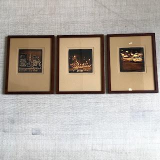 Djordje Skendzic Gold Leaf Photograph Trio