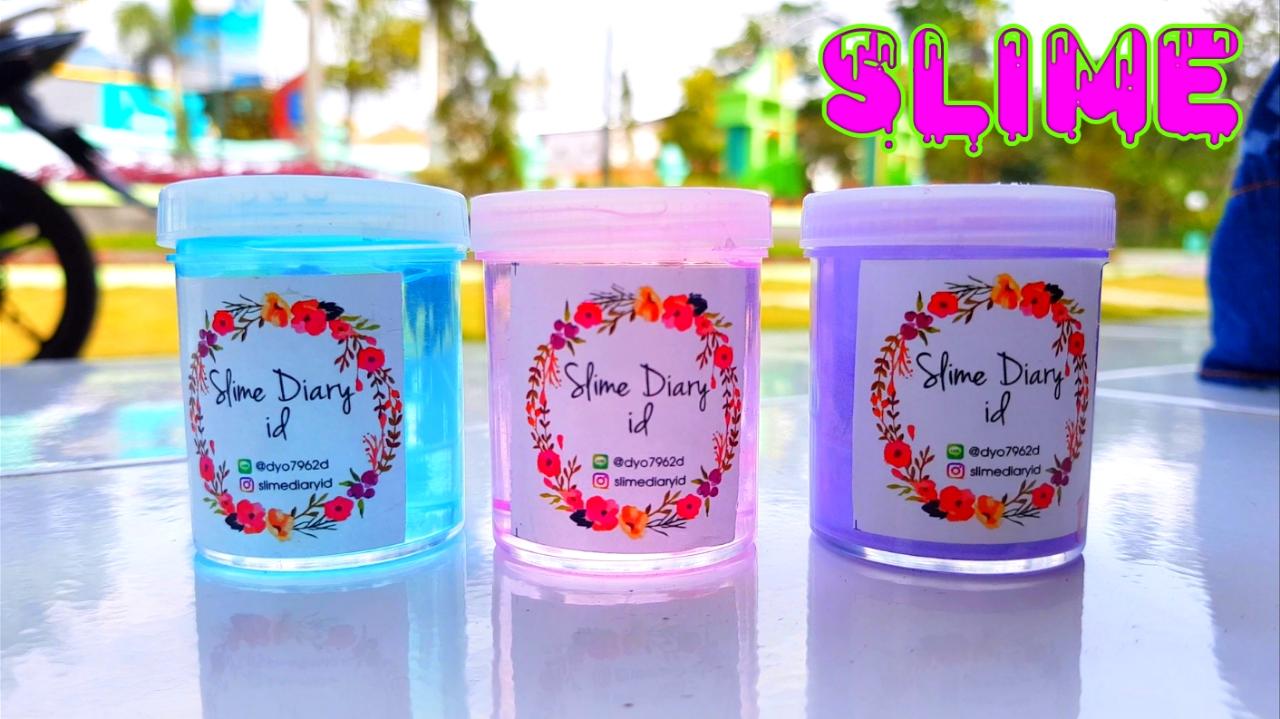 3 COLORS SLIME DIARY ID 💟 Mainan Anak Perempuan Slime 3 Warna - Unboxing Slime Murah Dari Jogja