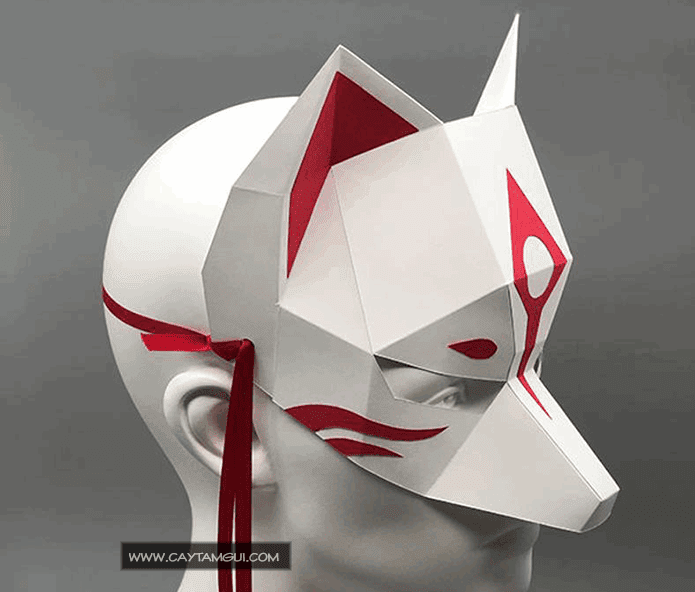 Mặt nạ giấy Cữu vĩ hồ ly - Kitsune - Demon Fox