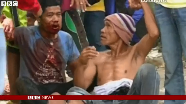 A protester who was injured in an encounter with polive in Cotabato province in the southern Philippines, where thousands of drought-hit farmers have clashed with police over demands for rice on 1 April 2016. Photo: BBC News