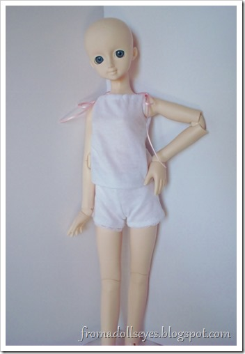 Of Bjd Fashion: Knit Shorts for Dolls: White Shorts with Lace