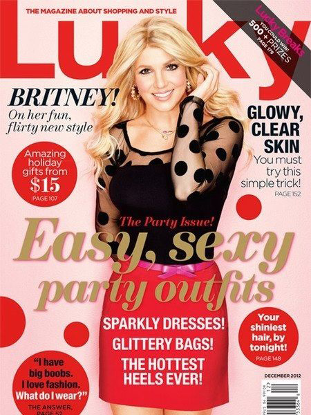 Britney Spears Lucky Magazine Cover