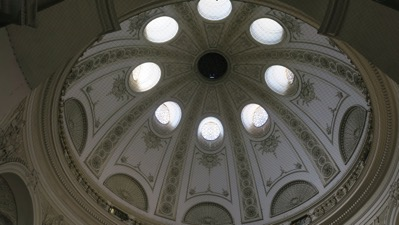 Inside dome of Hofburg entrance