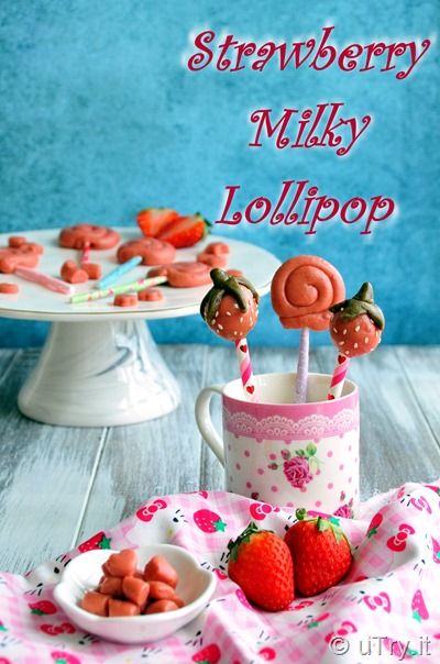 Strawberry Milky Lollipop 士多啤梨牛奶棒棒糖  http://uTry.it