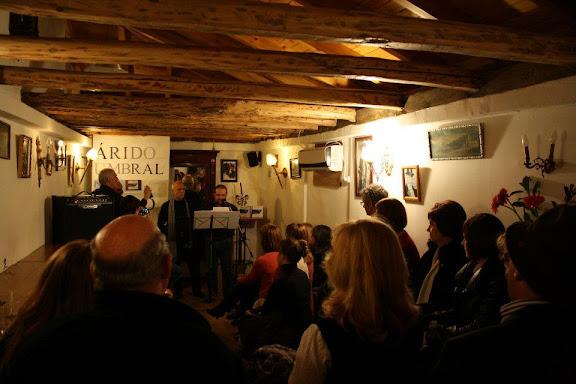 Momento de la presentación de Árido Umbral en León