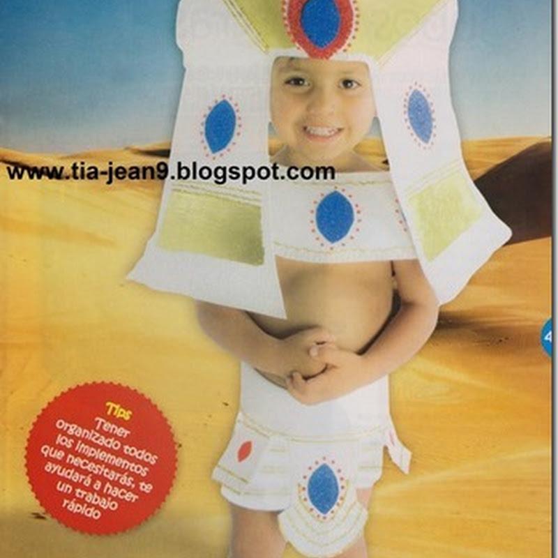 disfraz casero de faraón en foami para niños