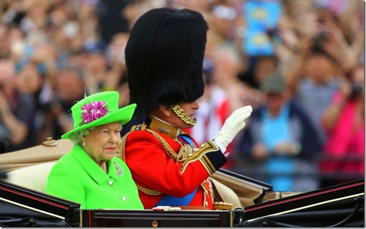Trooping the colour 2016 Green queen