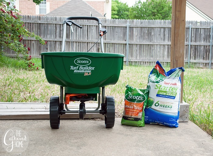 scotts spreader grass seed fertilizer