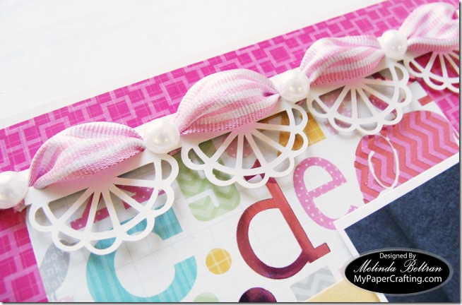 DCWV Baby Girl Stack w Ribbon Border Scrapbook Layout Idea