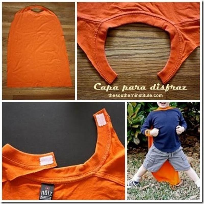 como hacer una capa para disfraz en dos minutos