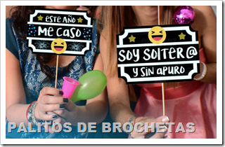 Photo Booth Props sobre Palitos de Brochetas