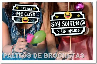 Photo Booth Props sobre Palitos de Brochetas