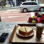 grilled cheese sandwich at Paris Baguette in Seoul in Seoul, Seoul Special City, South Korea