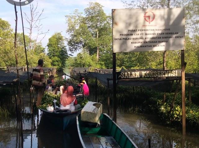PT Batulicin 69 Fasilitasi Penanaman 10 Ribu Bibit Mangrove di Pulau Burung