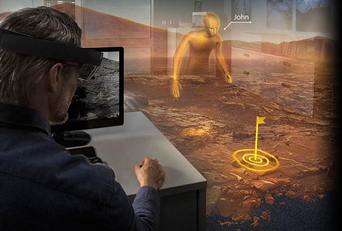 Microsoft HoloLens virtual Mars
