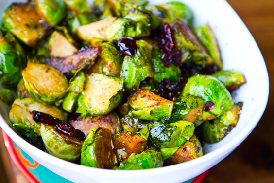 Cranberry Balsamic Brussel Sprouts. Holiday-approved.