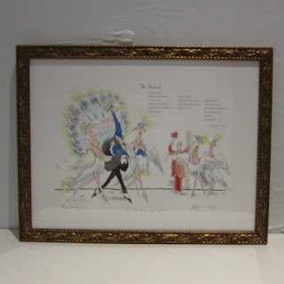 Ronald Searle X Robert Forbes Illustrated Poetry Lithograph - The Peacock