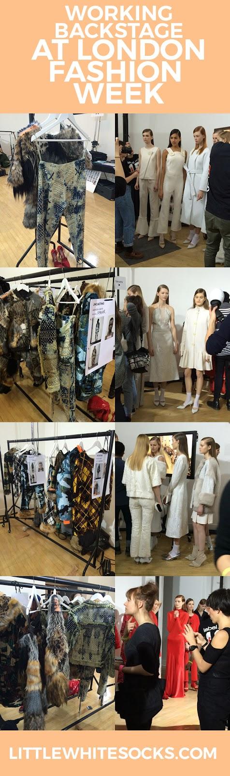 working backstage at london fashion week