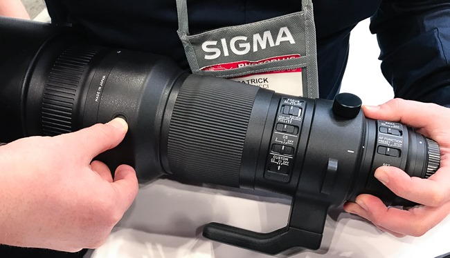 Sigma 500mm lens switches