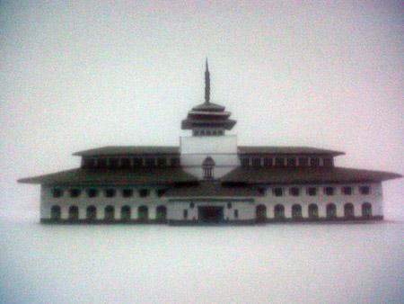 Gedung Sate Papercraft