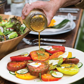 Heirloom Tomato Salad with Shallot Vinaigrette.