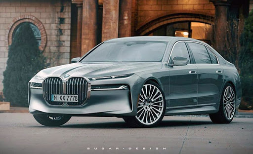 2022 bmw 7 series: new illustration - car on repiyu
