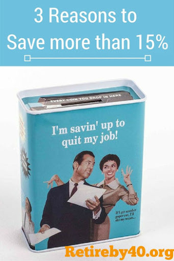 3 reasons to save more than 15%