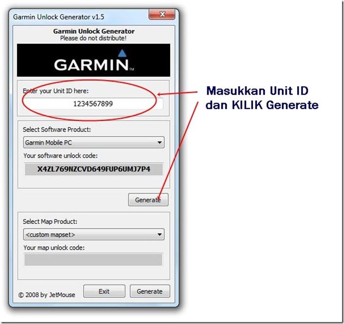 Garmin Unlock Generator