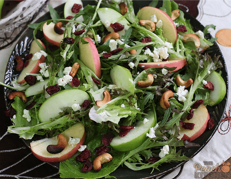 Apple Cranberry Cashew Salad
