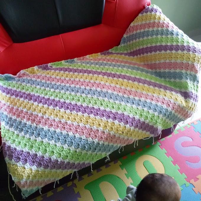 Lap Blanket c2c Crochet Unicorn Colors Inspires