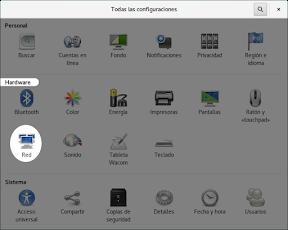 Configurar el hardware en GNOME. La red.