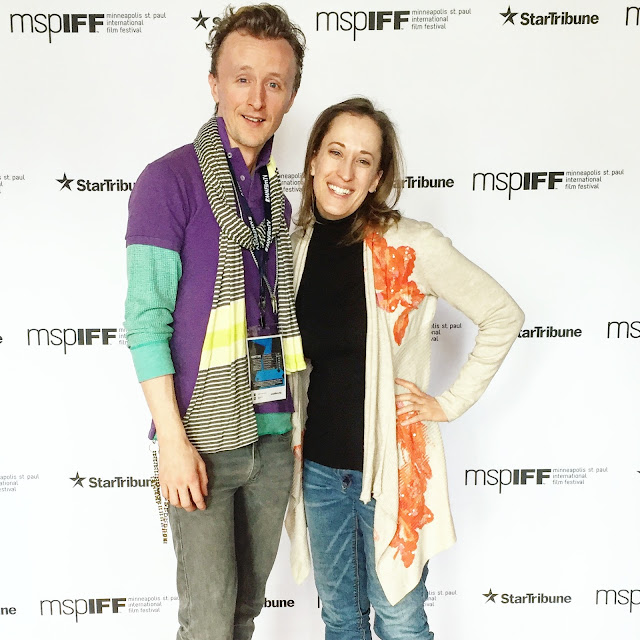 Actor Paul Cram with Actress Katie Macrunnels at the MSPIFF Screening of Women Outward Bound