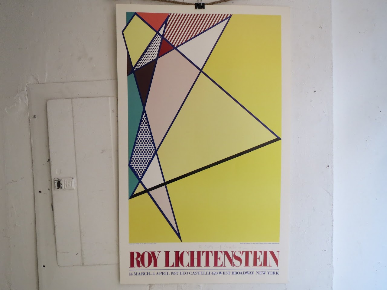 Roy Lichtenstein Signed Exhibition Poster 1