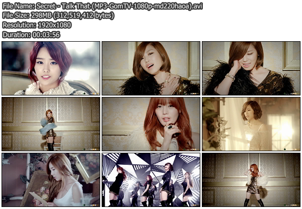 [MV] Secret   Talk That (GomTV HD 1080p)